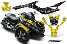 AMR GRAPHICS WRAP KIT CAN AM CANAM SPYDER YELLOW REAPER
