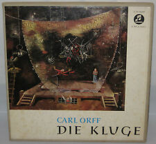 Carl Orff Die Kluge 2 Record 33rpm Rare Box Set Columbia 33 WCX 510/11 Germany