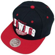 Mitchell & Ness and Detroit Redwings Black Tripop EU060 Snapback Cap Basecap