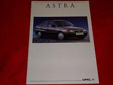 Opel Astra F Sedán GL GLS CD folleto de 8/1992