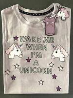 Einhorn Damen Nachthemd Kurzarm Bigshirt Schlafshirt Sleepshirt Pyjama S M L XL