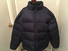 Cabela's Mens Premier Goose Down Navy Short Puffer Jacket XL