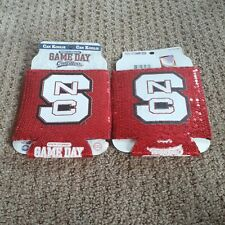 Lot of 2 - Nc State WolfPack Ncaa 12oz Can Koolie Koozie Cooler Coozie
