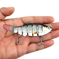 Multi Jointed Hard Fishing Lure Bait Swimbait Bass Pike Minnow Hook Lifelike 30g
