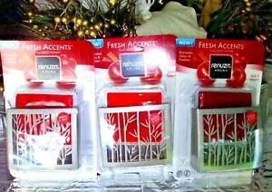 3 Renuzit Aroma Fresh Accents Refills APPLE CINNAMON Fits Glade Decor Scents
