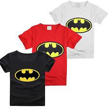 enfants costume bébé garçon Dessin Animé Batman T-shirt haut manche courte