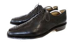 Ralph Harrison Classic Brogue Oxford Business Schuhe Schwarz Leder 43 43,5 TOP