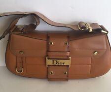 Christian Dior Street Chic Leather Camel Shoulder Bag Satchel