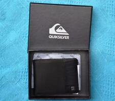QUIKSILVER Other Day Surf Men's BLACK LEATHER Wallet. New.rrp $39.99 Slim Line