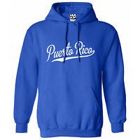 Puerto Rico Script Tail HOODIE - Hooded Baseball Sports Sweatshirt - All Colors