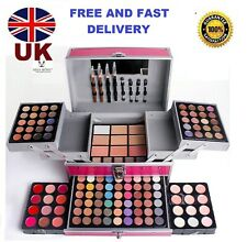 Miss Rose 136Pcs pink colour Makeup Vanity Case Cosmetic Kit Box Eye shadow Set
