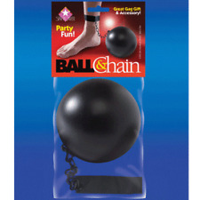 Costume Ball & Chain Theater Party Play Fun Prisoner Jail Accessory