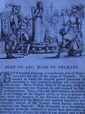 Joan of Arc Maid of Orleans Domremy  Rare Old Victorian Antique Article 1845