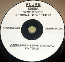 FLUKE 6060A Synthesized Signal Generator Instruction(Operating & Service) Manual