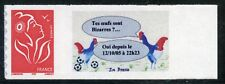 TIMBRE PERSONNALISE N° 3802A **  AUTOADHESIF / MARIANNE LOGO / POULE / COQ
