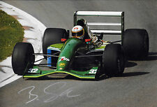 Bertrand Gachot SIGNED 12x8  F1 Jordan-Ford HB 191 , 1991 Grand Prix Season