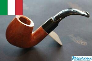 Tubo Pipe pfeife Savinelli radica grezza cerata 614 Billiard curva made in italy