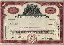 Schering Corporation Stock Certificate New Jersey