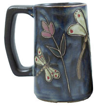 Mara Stoneware Stein/Mug (One Mug) 16 oz. Square Bottom -  Dragonfly - (513DF)