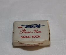 Vintage Domino Advertising Sugar Cube - The Plane View Dining Room Cleveland OH