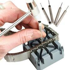6 Pcs Watch Repair Tool Kit Band Strap Pins Link Removal Back Hammer Punch Set Q