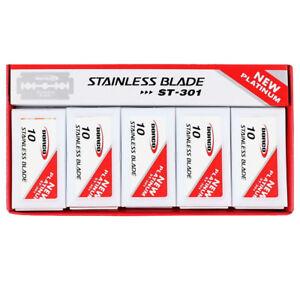 DORCO ST301 Platinum Stainless Double Safety Razor Blades 100