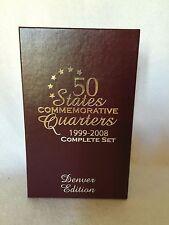 50 States Commemorative Quarters Set 1999-2005 Denver Edition  w Box