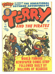TERRY & THE PIRATES #6 5.0 MILTON CANIFF STORY AND ART HARVEY OW/W PGS 1947