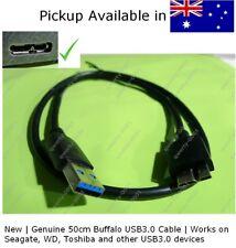 New & Genuine Buffalo USB 3.0 cable for Seagate WD hard drive short 50cm micro B