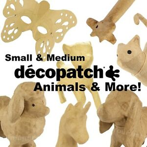 Small/Med Decopatch Decoupage Papier Mache Animals and Much More! Huge Selection