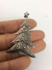 Beautiful vtg sterling  Silver 925 Christmas tree pin brooch