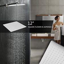 12'' Square Stainless Steel Rain Shower Head Rainfall Bathroom Top Sprayer New H