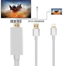 8Pin Lightning To HDMI HDTV AV Adapter Cable For iPhone X 7/8Plus iPad Silver UK