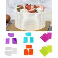 3Pcs Plastic Cake Scraper Spatula Dough Cutter Blade Pastry Fondant Baking Tools