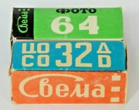 Expired 120 film lot Svema Negative  COLOR DS4, B&W 32 Lomography (x2 Roll) Ussr