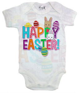 Dirty Fingers, Happy Easter, Baby Subli Bodysuit Cute Gift Baby's First Easter