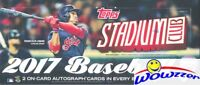 2017 Topps Stadium Club Baseball Factory Sealed HOBBY Box-128 Cards+2 AUTOGRAPHS