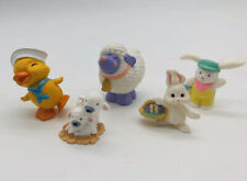 Hallmark Easter Merry Miniatures Lot Of 5 Bunny Lamb Chick Miniature Figures