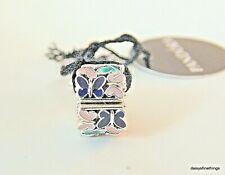 Authentic PANDORA 925 Ale Butterfly Arrangement Clip Charm 797863ENMX