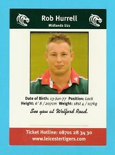RUGBY  -  LEICESTER  TIGERS  CARD  -  ROB  HURRELL
