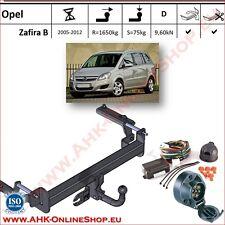 Gancio traino Opel Zafira B 2005-2012 + elettrico 7-poli OMOLOGAZIONE | NUEVO