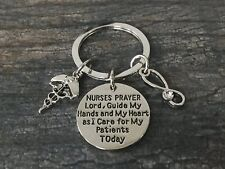 Nurse Keychain - Nurse Jewelry- Nursing Prayer Appreciation Gift for Nurse