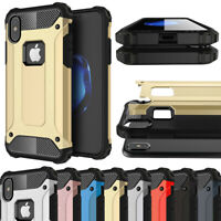 Hybrid Rubber Shockproof Case Cover For Apple iPhone 5 6 7 8 Plus / X XS Max XR
