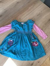 GIRLS Long Sleeved DRESS BUTTERFLY BY MATTHEW WILLIAMSON AGE 3 PINK/BLUE