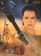 BB-8 REY POSTER STAR WARS THE FORCE AWAKENS DAISY RIDLEY X-WING FIGHTER 00A