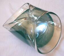 Italian MURANO Art Glass Dish Bowl large light blue - Palm Springs, California !