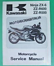 KAWASAKI ZX-6 ZZR600 NINJA MANUALE OFFICINA MANUAL WORK SHOP SERVICE  HAND BOOK