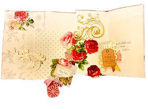 ANNA GRIFFIN CARD MAKING KIT REMNANTS~Cards/Envelopes & Embellishments