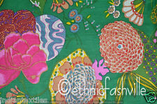 3 Yard Cotton Green Fruit Indian Hand Block Print Sewing Material Craft