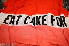 NWT Kate Spade eat cake for breakfast scarf bougnmaras havana scarves orange